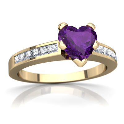Amethyst Channel Set Ring in 14K Yellow Gold by