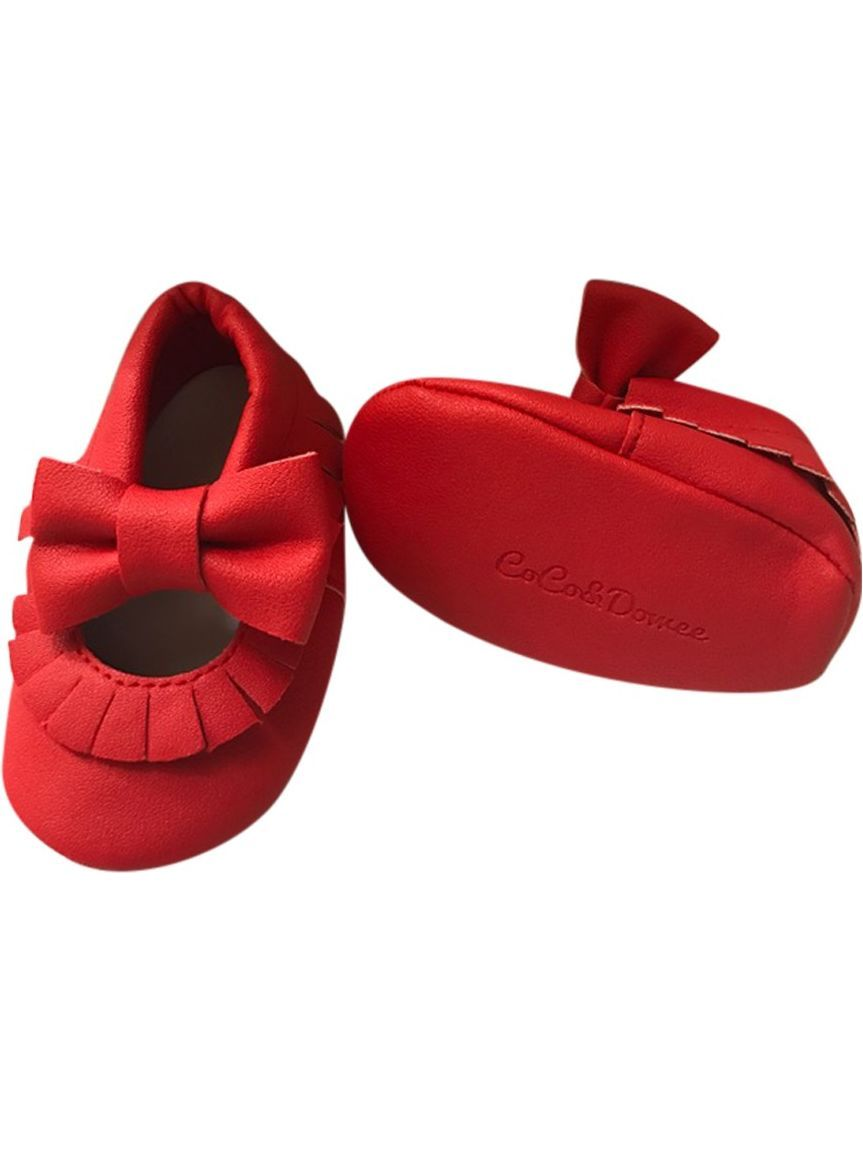 486791df682 Baby Girls Red Soft Sole Mary Jane Bow Faux Leather Crib Shoes 3-18M -  Walmart.com