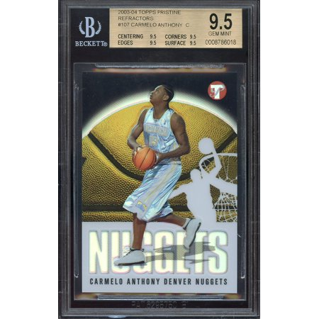 2003 04 Topps Pristine Refractor  107 Carmelo Anthony Rookie Bgs 9 5 9 5 9 5 9 5