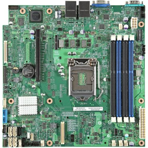 Intel DBS1200V3RPS Intel S1200V3RPS Server Motherboard - Intel C222 Chipset - Socket H3 LGA-1150 - 5 Pack - Micro ATX - 1 x Processor Support - 32 GB DDR3 SDRAM Maximum RAM - 1.33