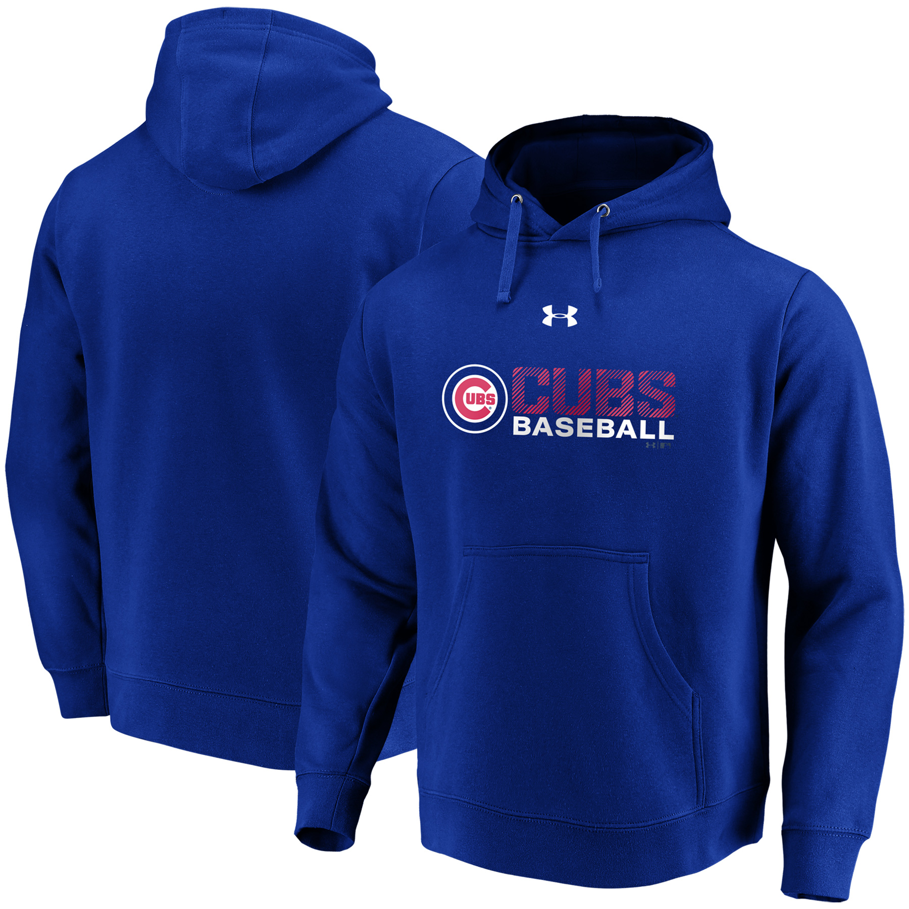 Chicago Cubs Under Armour Commitment Stack Pullover Hoodie - Royal