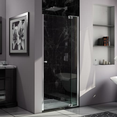 "DreamLine SHDR-4236728 Allure 73"" High x 37"" Wide Pivot Frameless Shower Door wi"