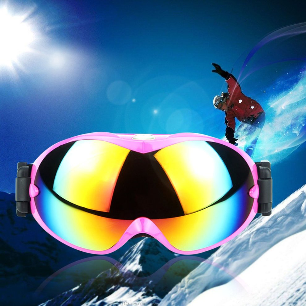 Unisex Ski Goggles UV400 Skiing Snowboard Anti-sand Windproof Eyewear HQ800 by