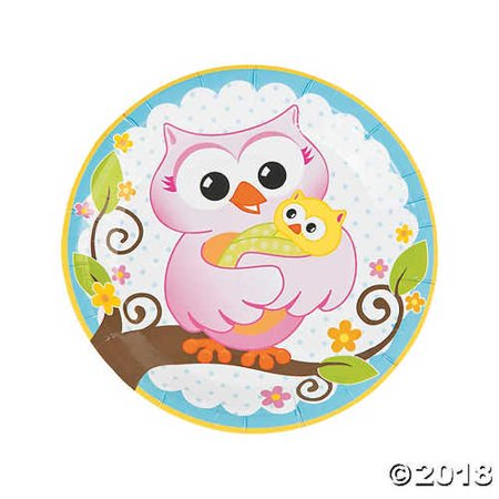 Owl Baby Shower Paper Dinner Plates (Owls Baby Shower)