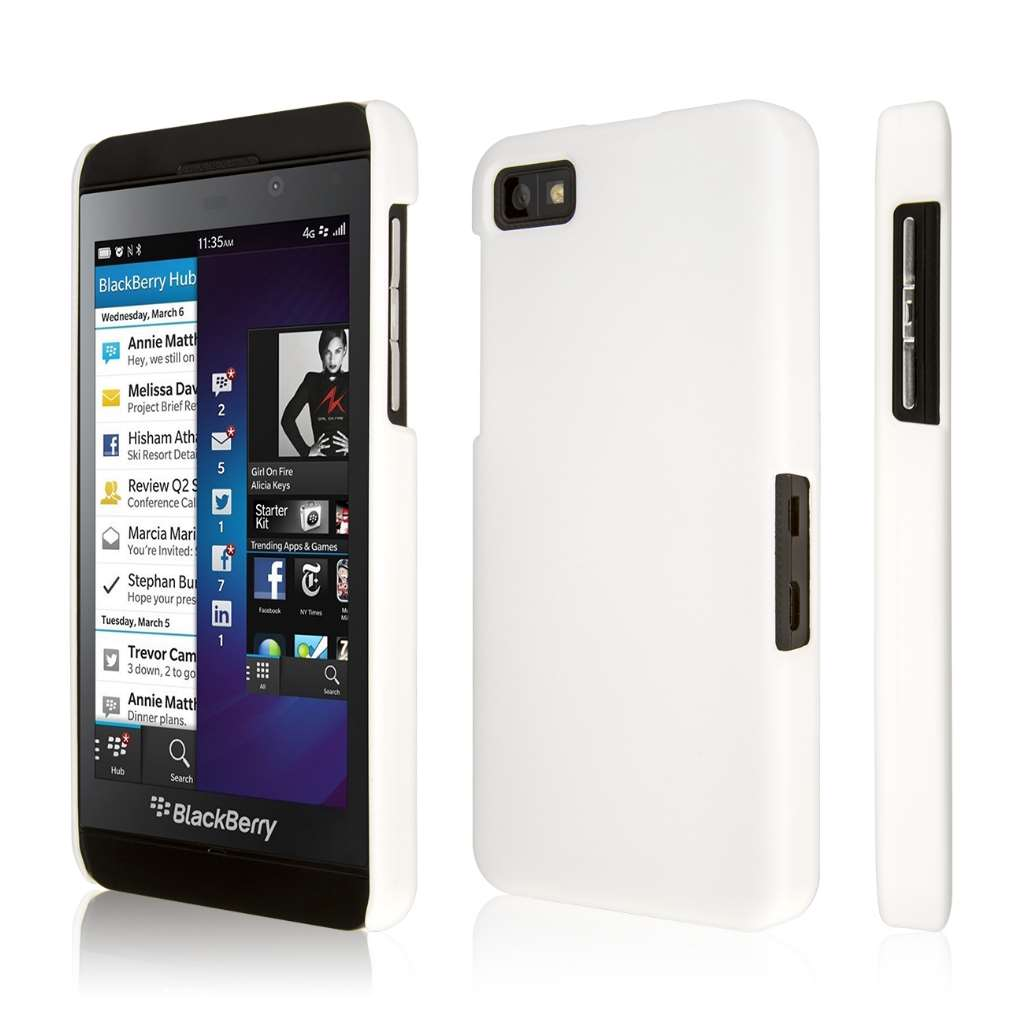 Blackberry Z10 Case, EMPIRE KLIX Slim-Fit Hard Case for Z10 - Soft Touch White (1 Year Manufacturer Warranty)