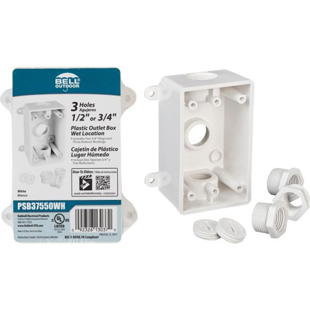 Outdoor Outlet Box - Bell Weatherproof PVC Outdoor Outlet Box