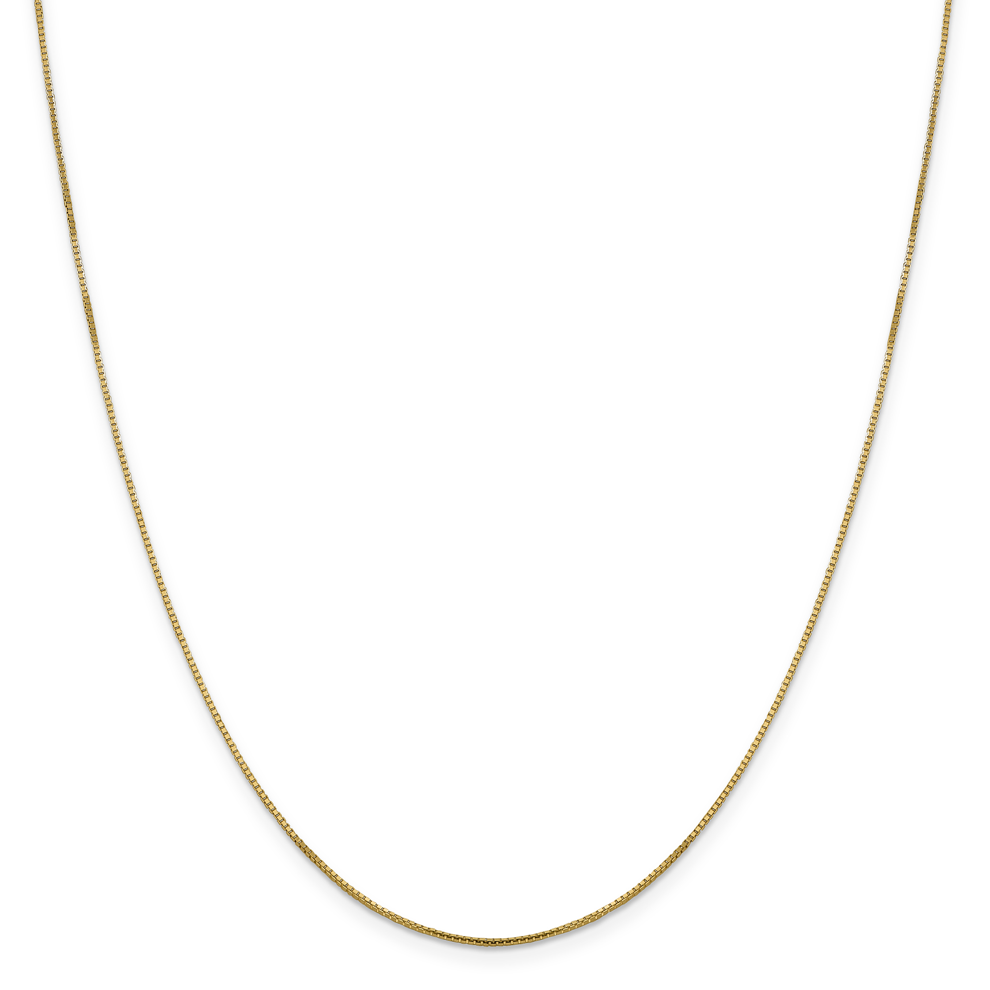 14k Yellow Gold 1 Mm Octagonal Sparkle Link Box Chain Necklace 16 Inch Pendant Charm Fine Jewelry Gifts For Women For Her - image 5 of 5