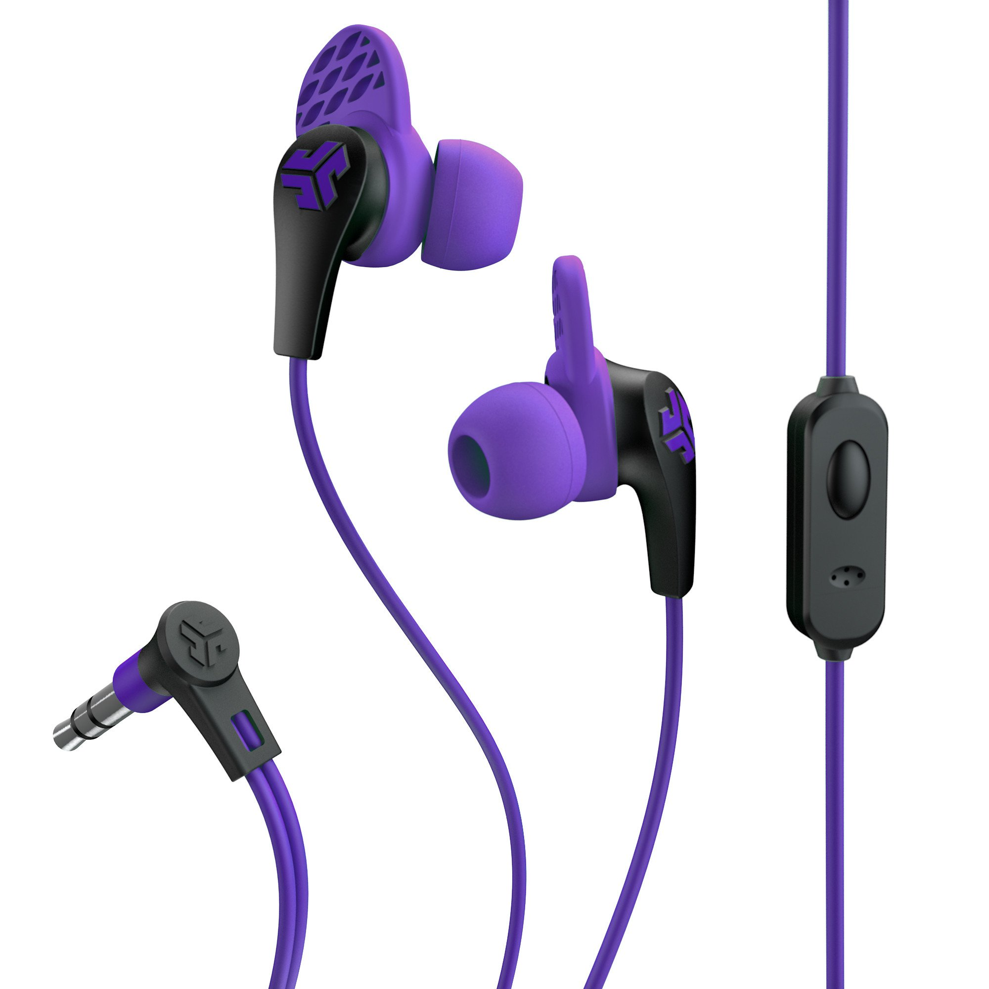 JLab Audio JBuds PRO Premium in-ear Earbuds with Mic, Guaranteed Fit, GUARANTEED FOR LIFE - Purple