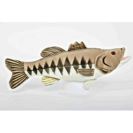 Largemouth Bass - 10 inch Cabin Critters Stuffed Animal -  Freshwater Fish Collection (Fish Stuffed Animals)