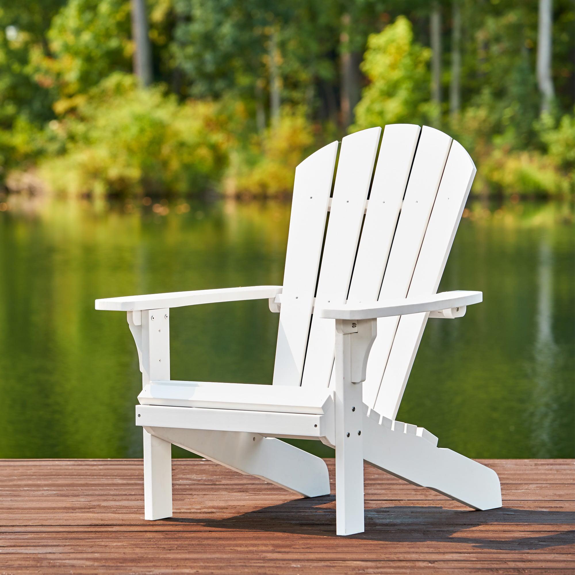 Shine Company Royal Palm Plastic Adirondack Chair White by Shine Company