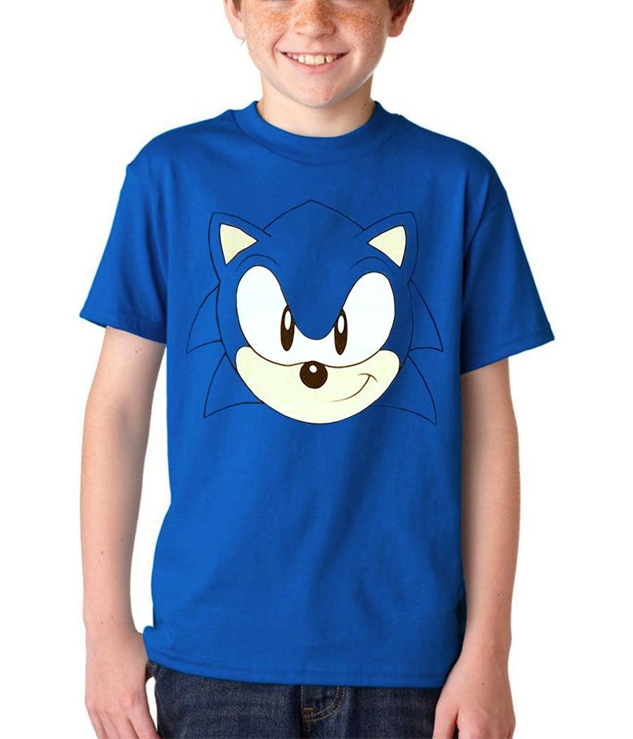 Sonic The Hedgehog Sonic The Hedgehog Face Youth T Shirt Walmart Com Walmart Com