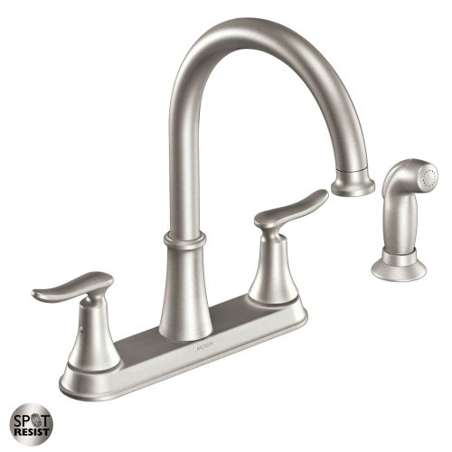 Moen High Arc Kitchen Faucet With Side Spray