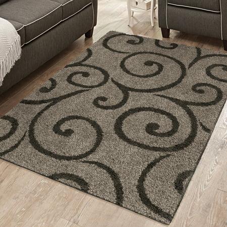 - Better Homes and Gardens Swirls Soft Shag Area Rug or Runner
