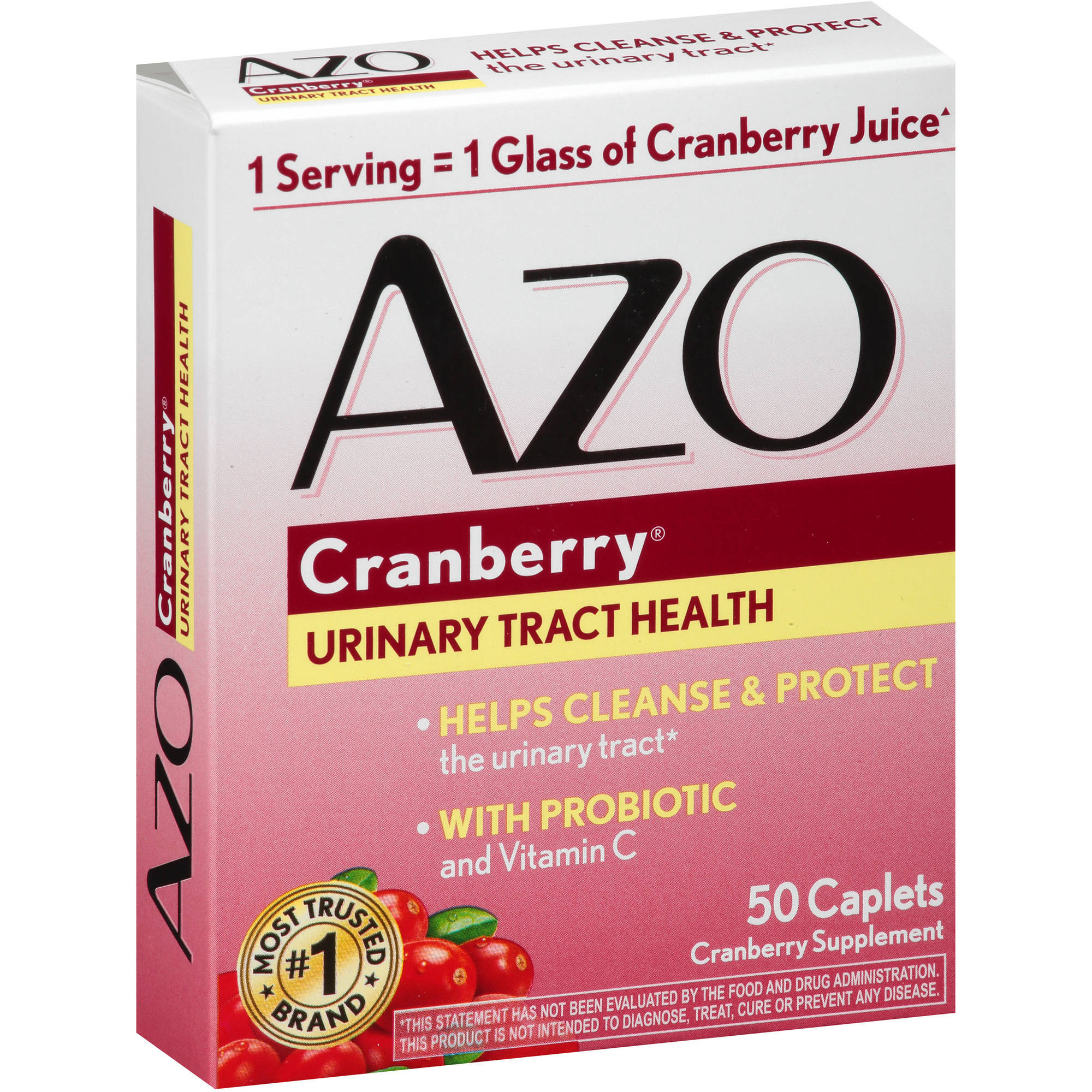 AZO Cranberry Urinary Tract Health Dietary Supplement Caplets, 50 count
