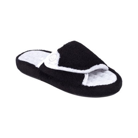 Women's Isotoner Microterry Pillowstep Spa Slide w/Memory Foam