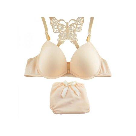 af54d24682594 Ropalia - Ropalia Women Sexy Front Closure Lace Push Up Bra + Panties  Underwear Sets - Walmart.com