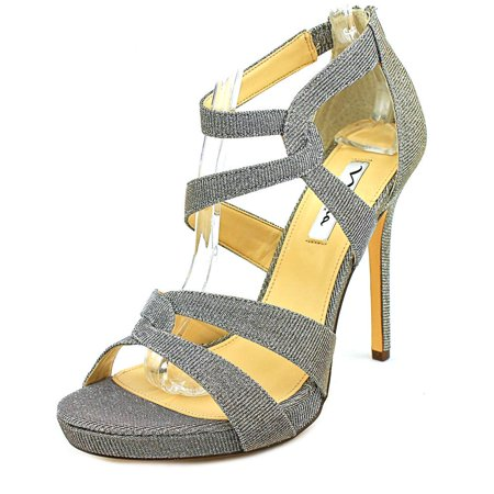 Nina Franzet Open Toe Canvas Sandals