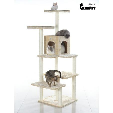 "GleePet 66"" Cat Tree GP78680721 Beige 4 Levels"