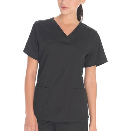 Scrubstar Womens Core Essentials Mechanical Stretch V Neck Scrub Top