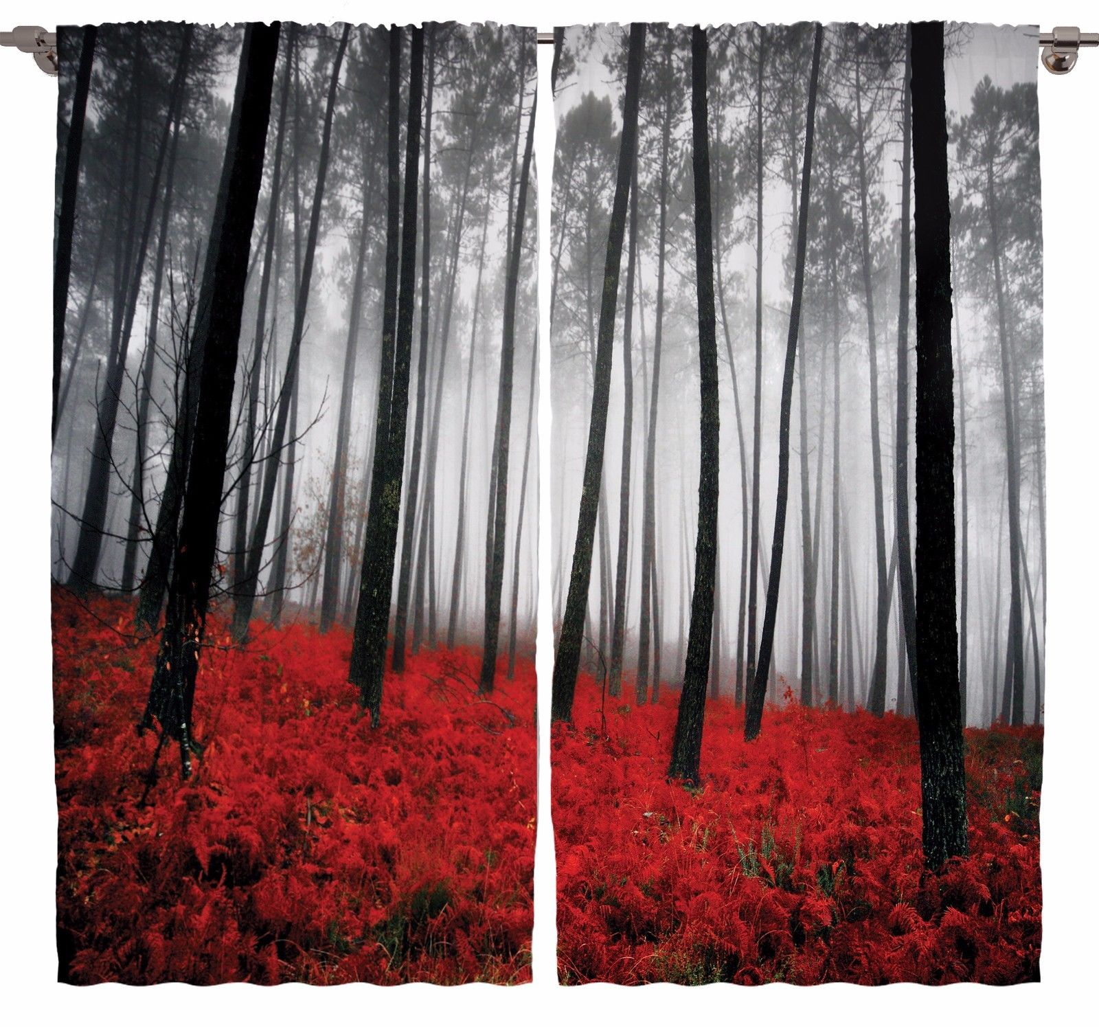 mystic forest digital photography living room curtains 2panels set
