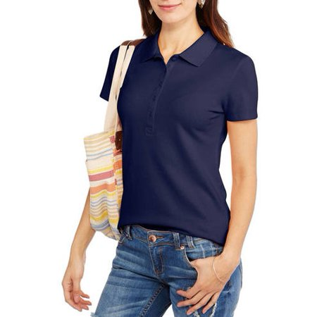2293f3ec9 Faded Glory - Women's Short Sleeve Polo - Walmart.com