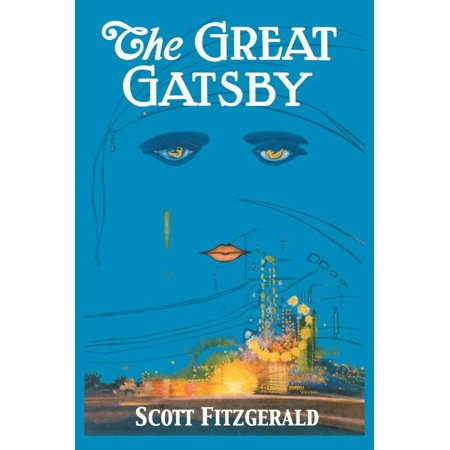 The Great Gatsby Vintage Classic Book Cover Illustration Print Wall Art By Francis Cugat - Gatsby Inspired Decor