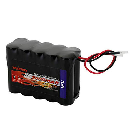 Tenergy NiMH Battery Pack 12V 2000mAh High Capacity Rechargeable Battery w/Bare Leads Replacement Battery Pack for DIY, Medical Equipments, LED Light Kit, RC Models, Portable 12V DC Devices and More (12v Ac Nimh Battery Pack)
