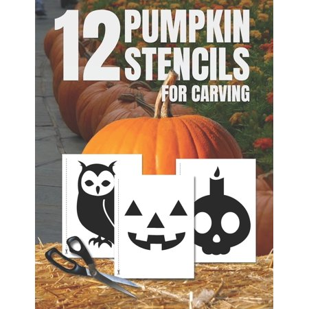 Elsa Halloween Pumpkin Stencils (Pumpkin Stencils for Carving: Pumpkin Cutouts Stencil Book with 12 Designs, Template, Shapes to Cut, Tape, Trace, and Carve, Halloween Party)