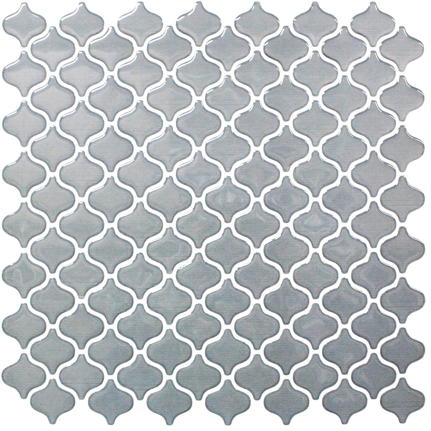 "BeausTile Decorative Adhesive Faux Tile Sheets, 12.2"" x 12.2"" 4-Piece, Grigio"