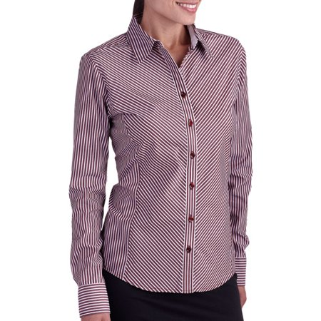 3f6d5c3b George - George Career Essentials Women's Long-Sleeve Button-Down ...
