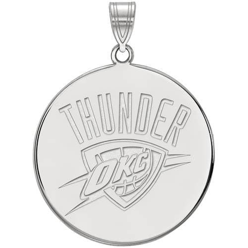 NBA Oklahoma City Thunder 14kt White Gold Extra Large Pendant