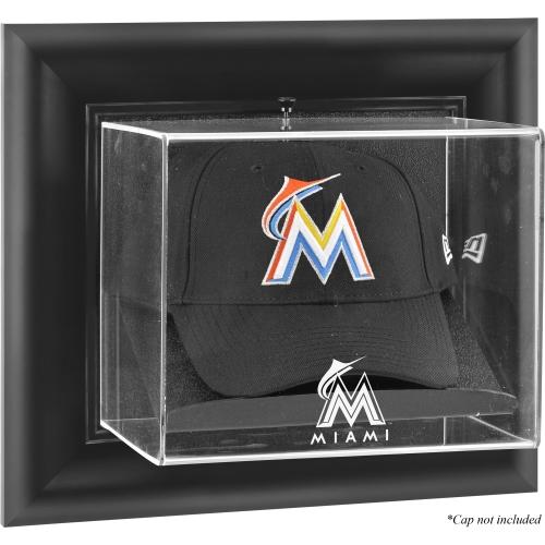 Miami Marlins Fanatics Authentic Black Framed Wall-Mounted Logo Cap Display Case - No Size