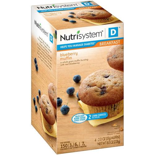 Nutrisystem D Blueberry Muffins, 2 Oz, 4 Ct