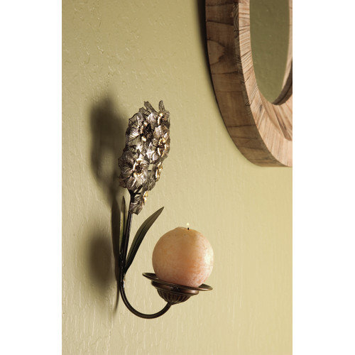 Wilco Home Flower Metal Sconce
