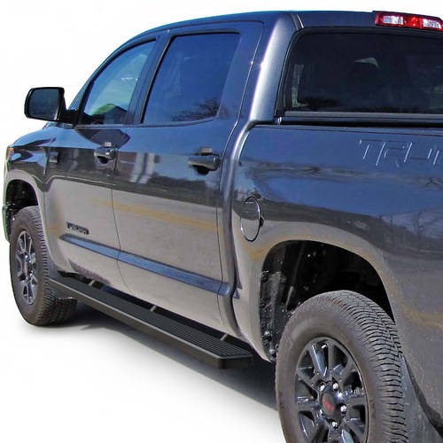 "2007-2018 Toyota Tundra CrewMax Cab 5"" Matte Black iStep Side Step"