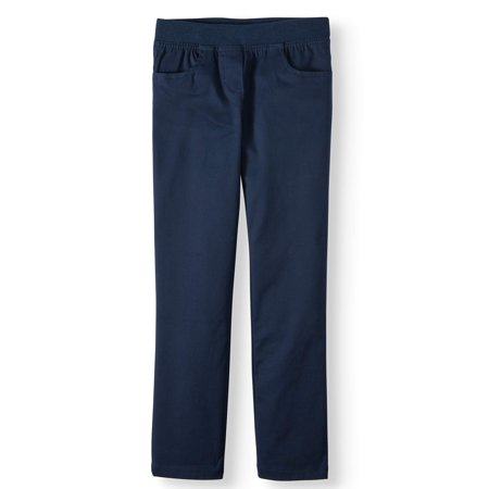 Wonder Nation Girls School Uniform Stretch Twill Pull-On Pants (Little Girls & Big Girls) ()