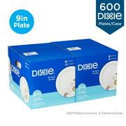 "Dixie® 8.5"" Medium-Weight Paper Plates, UX9PATHPB, 300 Plates per Pack, 2 Packs per Case"
