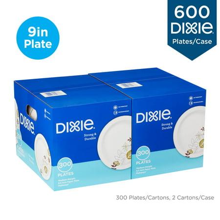 Dixie® 8.5u0022 Medium-Weight Paper Plates, UX9PATHPB, 300 Plates per Pack, 2 Packs per Case