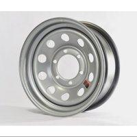 "Trailer Wheel Rim #370 15x6 15""x6"" Modular 6 Bolt Hole 5.5"" On Center Silver"