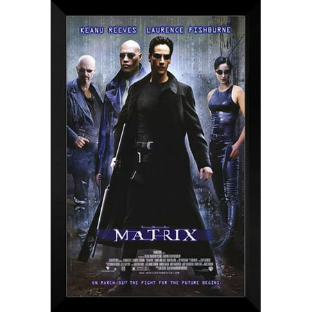 The Matrix Framed 27X40 Movie Poster  Keanu Reeves