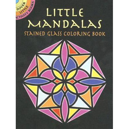 Little Mandalas Stained Glass Coloring (Mandala D'halloween)