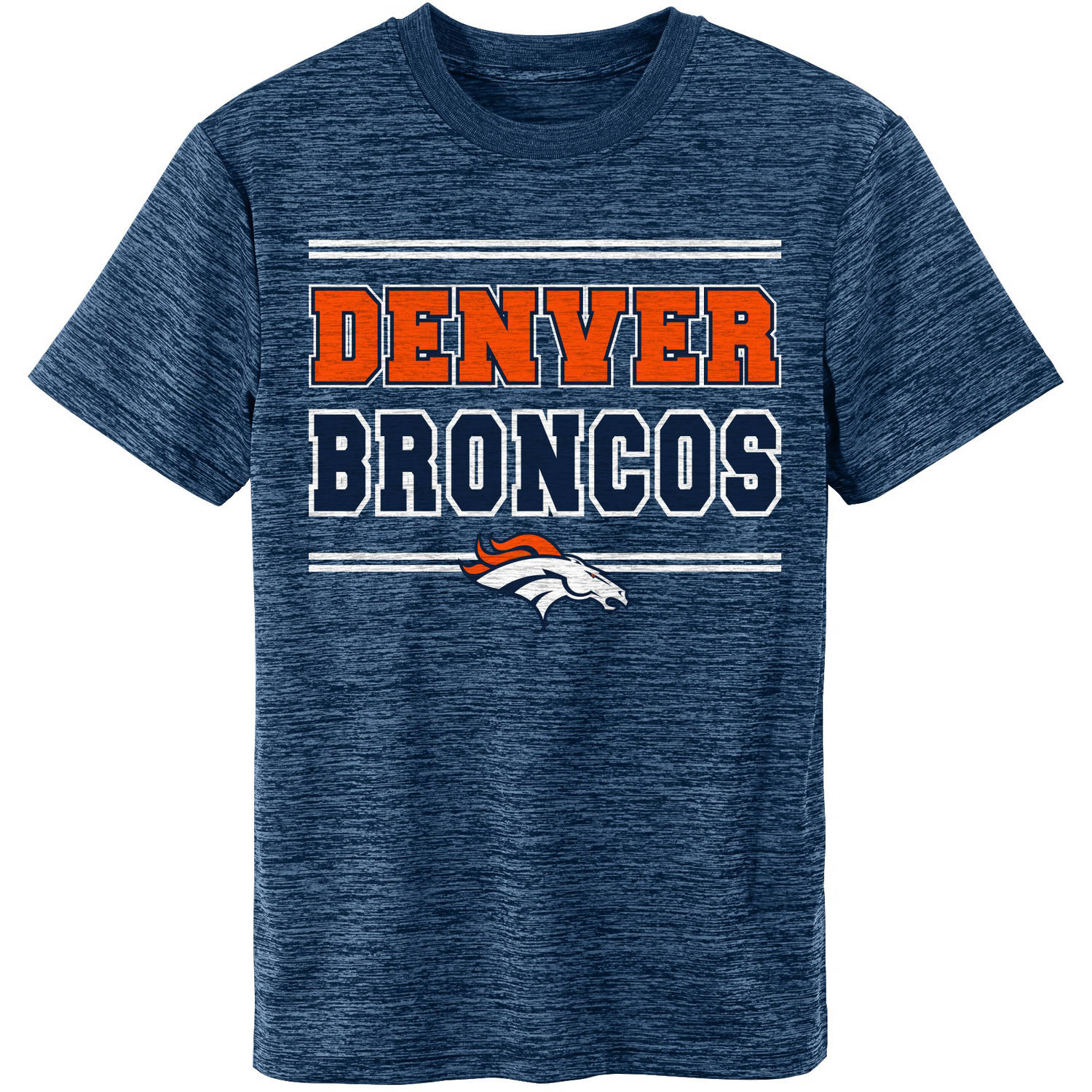 NFL Denver Broncos Youth Short Sleeve Space Dye Tee