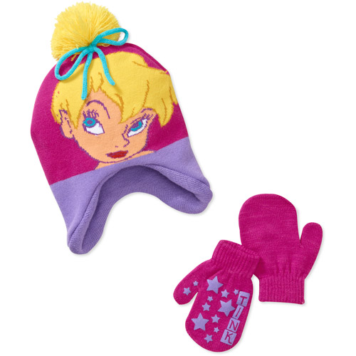 Disney Girls' Tinkerbell Hat and Gloves Set