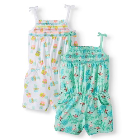Smocked Rompers, 2-pack (Toddler