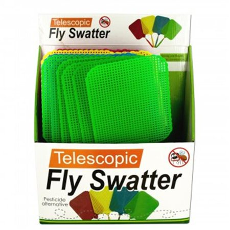 Bulk Buys OS184-24 Giant Telescopic Fly Swatter Display - 24 Piece - Giant Fly Swatter