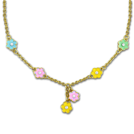 Flower Necklace Little Girls Jewelry | 6 Flower Charms - Cute Necklace For Girls | Jewelry For Little Girls Flower Girl Necklace & Daisy Necklaces For Little Girls | Flower Girl Gifts… - Little Girls Necklaces