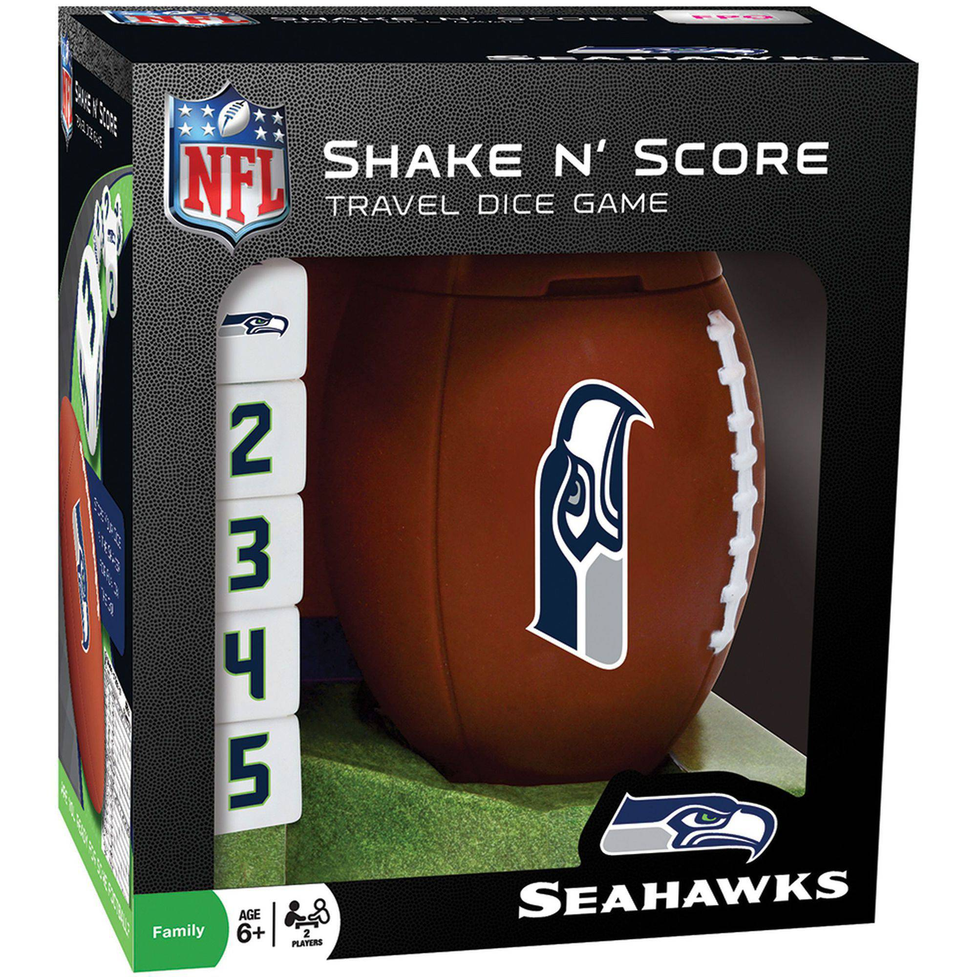 MasterPieces NFL Seattle Seahawks Shake n' Score Dice Game by Generic