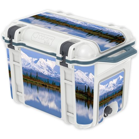 Skin Decal Wrap For Otterbox Venture 45 Qt Cooler Sticker Mountains