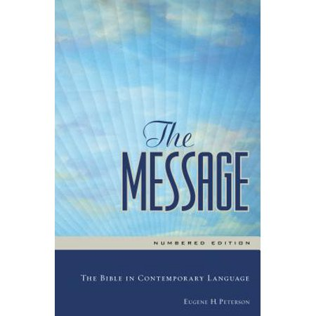 The Message Full Size (Hardcover, Blue Water) : The Bible in Contemporary