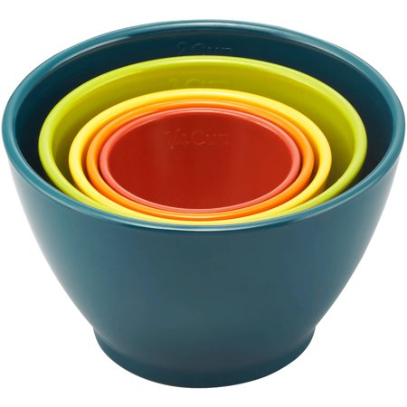 Rachael Ray 5-Piece Melamine Nesting Measuring Cups Set, Assorted Colors
